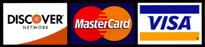 master card, visa card, and discover
